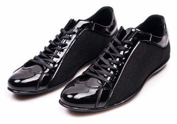Półbuty męskie czarne Denley 501