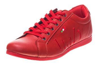 Półbuty męskie czerwone Denley 603S