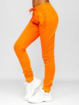 Pomarańczowe spodnie dresowe damskie Denley CK-01