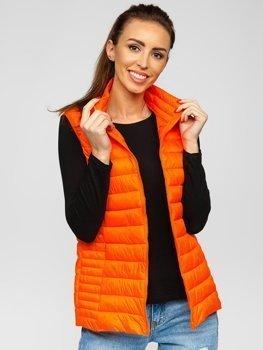 Pomarańczowy-neon pikowana kamizelka damska Denley 23038