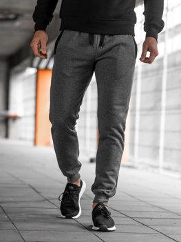 Spodnie dresowe joggery męskie grafitowe Denley AK13-1