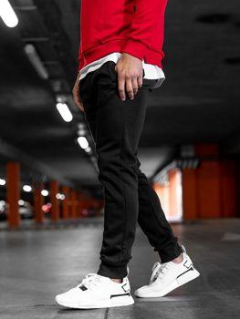 Spodnie dresowe męskie czarne Denley AK12-1