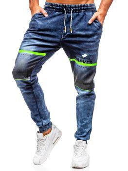 Spodnie jeansowe joggery męskie granatowe Denley  KK1059