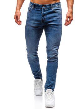 Spodnie jeansowe męskie niebieskie Denley 7160-A