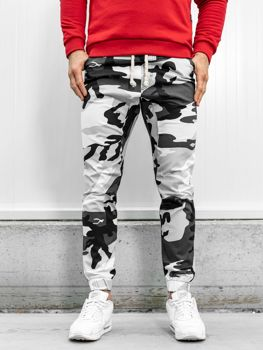 Spodnie joggery męskie moro-czarno-białe Bolf 0367