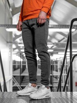 Spodnie męskie dresowe antracytowe Denley JX8935