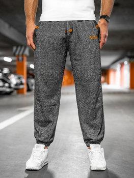 Spodnie męskie dresowe grafitowe Denley Q3473