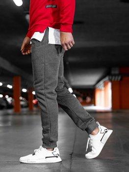 Spodnie męskie dresowe grafitowe Denley XW03