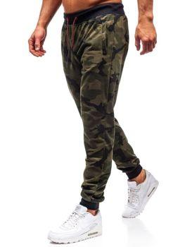 Spodnie męskie dresowe joggery moro-zielone Denley MK19