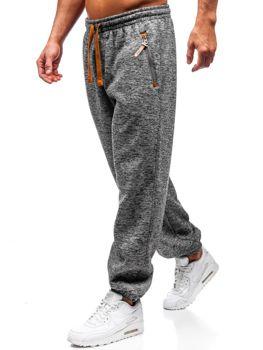 Spodnie męskie dresowe szaro-brązowe Denley Q3521