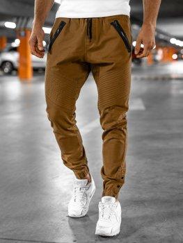 Spodnie męskie joggery camelowe Bolf 0952