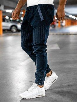 Spodnie męskie joggery granatowe Bolf 0952
