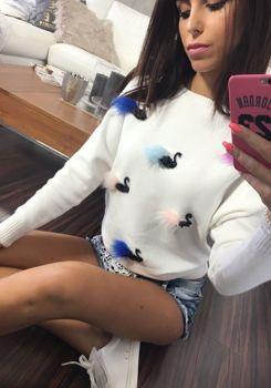 Sweter damski biały Denley 644