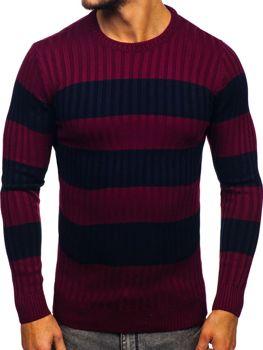 Sweter męski bordowy Denley 4516