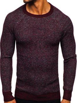 Sweter męski bordowy Denley H1932