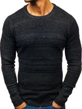 Sweter męski czarny Denley H1805