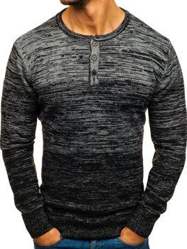 Sweter męski czarny Denley H1821