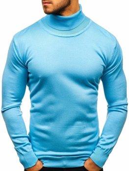 Sweter męski golf błękitny Denley 2400