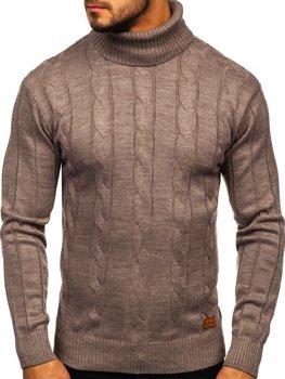Sweter męski golf brązowy Denley 5021