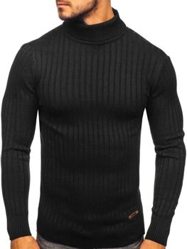 Sweter męski golf czarny Denley 3070