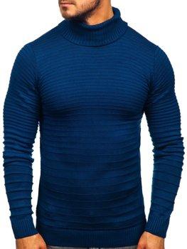 Sweter męski golf niebieski Denley 4518