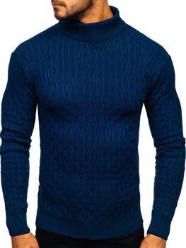 Sweter męski golf niebieski Denley 501