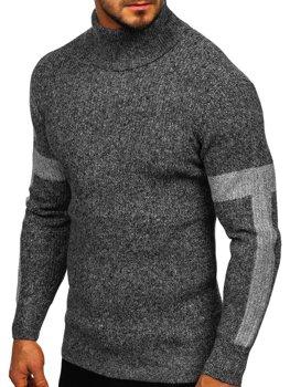 Sweter męski golf szary Denley H1927