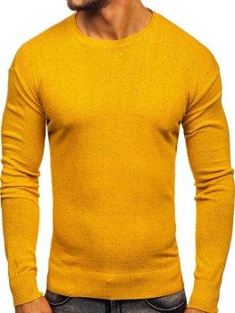 Sweter męski żółty Denley 0001