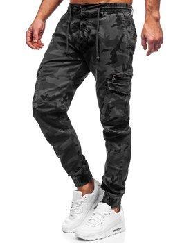 Szare spodnie joggery bojówki męskie Denley CT6026S0