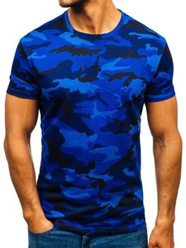 T-shirt męski moro-granatowy Denley S807