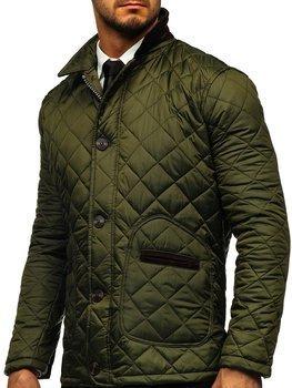 Zielona kurtka męska przejściowa elegancka typu husky Denley 0003