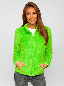 Zielony-neon polarowa bluza damska Denley HH006