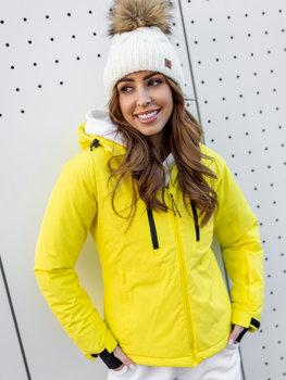 Żółta kurtka zimowa narciarska damska Denley HH012
