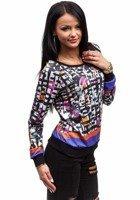 Bluza damska czarna Denley 3756