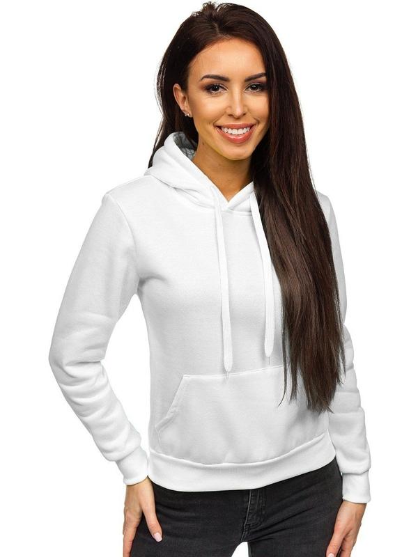 Bluza damska z kapturem biała Denley WB1002
