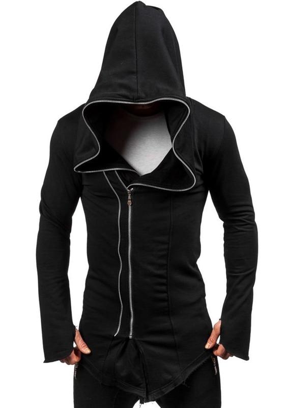 Bluza męska z kapturem czarna Denley 2036-1