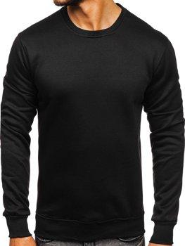 Czarna bluza męska bez kaptura Denley D001-1