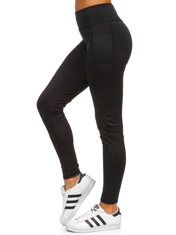 Czarne legginsy damskie Denley Y6730