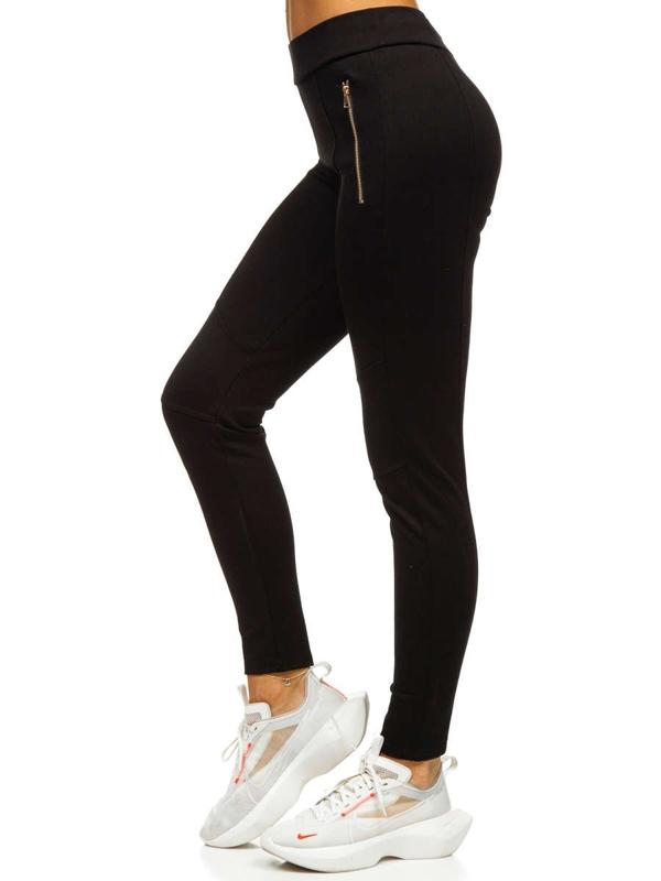 Czarne legginsy damskie Denley YW01039-D1