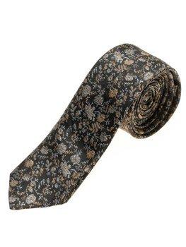 Elegancki krawat męski czarny Denley K100