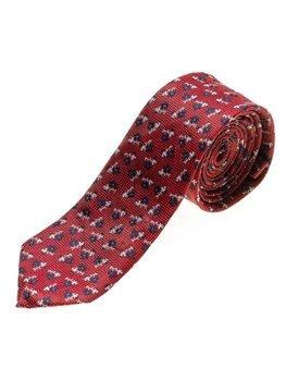 Elegancki krawat męski czerwony Denley K103