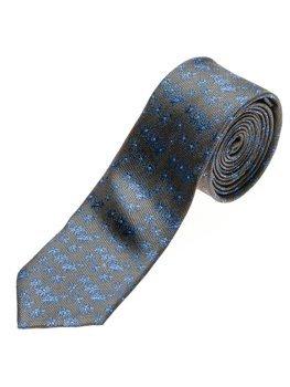 Elegancki krawat męski grafitowy Denley K105