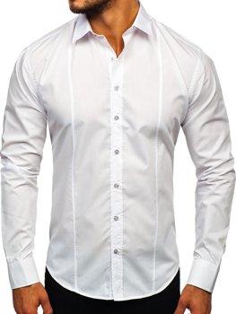 Koszula męska elegancka z długim rękawem biała Bolf 4705-G