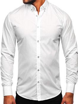 Koszula męska elegancka z długim rękawem biała Bolf 5821-1