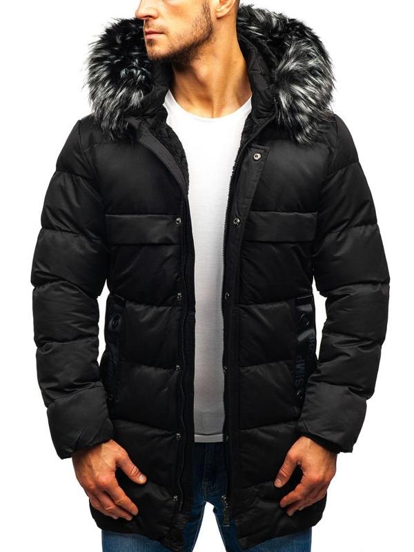 Kurtka męska zimowa czarna Denley 99113