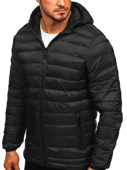 Kurtka męska zimowa sportowa pikowana czarna Denley SM72