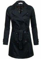 Płaszcz damski czarny Denley 4217