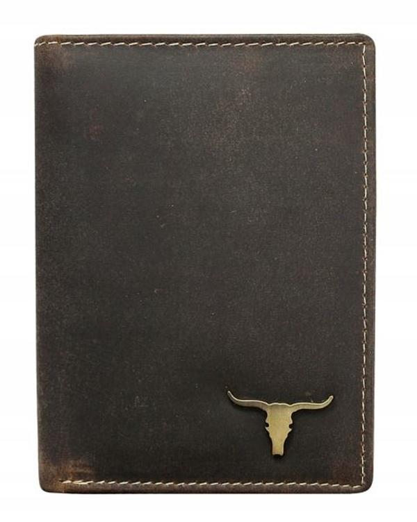 Portfel męski skórzany brąz 496