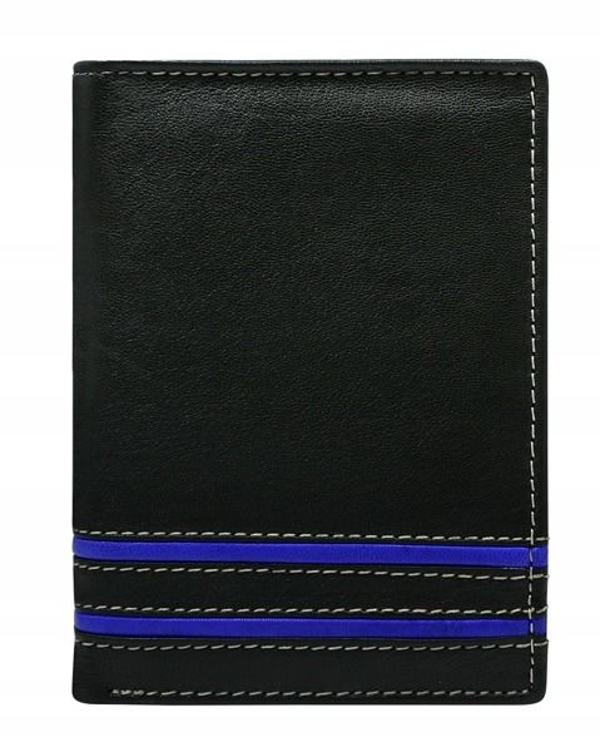 Portfel męski skórzany niebieski 599