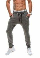 Spodnie baggy męskie antracytowe Denley k14